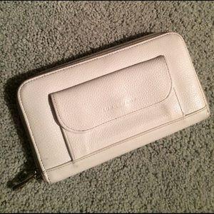 Longchamp Accessories - Longchamp white leather wallet
