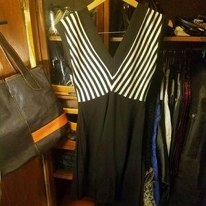 Sandro Dresses & Skirts - SANDRO dress in black & white chevron pattern