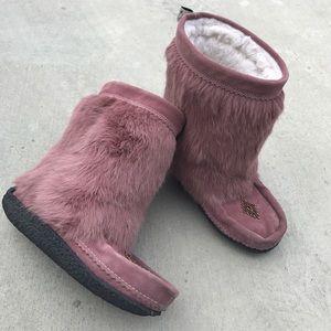 Muk Luks Shoes - Muks Rabbit Fur Boots