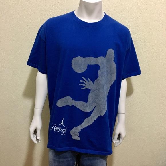 Air T Jordan Blue Shirt Xxl Respect Nike Jumpman xtrChQsd