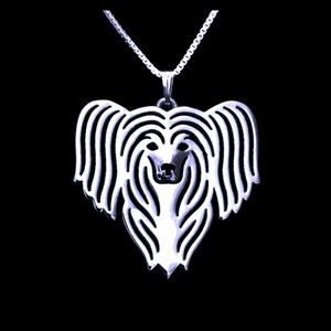 Jewelry - Silver Chinese Crested Dog 🐶 Necklace
