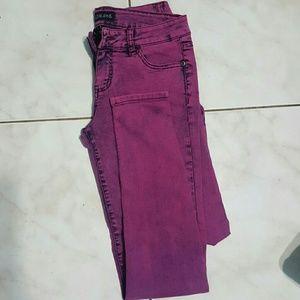 Love Culture Denim - Pink purple skinny jeans