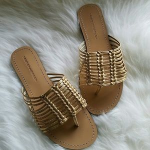 "Sigerson Morrison Shoes - NWOT Sigerson Morrison ""BOBI"" Metallic Thongs"