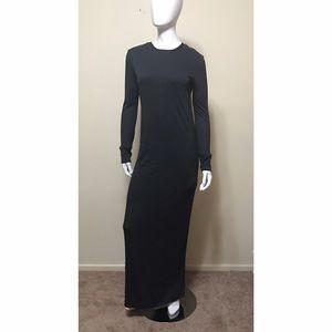 Pencey Dresses & Skirts - PENCEY STANDARD charcoal gray long drape dress S