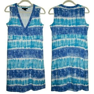 Calvin Klein Jeans Dresses & Skirts - Calvin Klein Blue & White Tie Dye Striped Dress