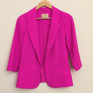 skies are blue Jackets & Blazers - Skies are Blue Hot Pink Casual Blazer Size XS