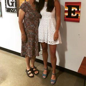 BB Dakota 'Renley' Lace Fit & Flare Dress