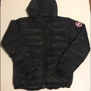 Canada Goose Other - Canada Goose Down Lodge Hoody Jacket Sz M Black