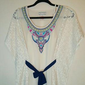 Flying Tomato Dresses & Skirts - Flying Tomato Embroidered Boho Tunic Summer Dress