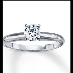 kay jewelers jewelry 12 carat diamond solitaire ring in 14k white gold - Wedding Rings At Kay Jewelers