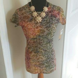 MV Sport Tops - NWT fun colored paisley floral print t shirt