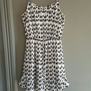 Aqua Dresses & Skirts - Black and White Arrow Print Aqua Dress Size M
