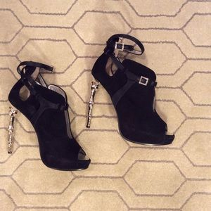 DSQUARED2 Ribcage Suede Ankle Bootie
