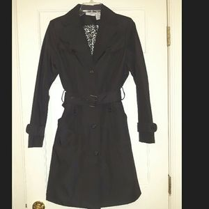 Jaclyn Smith Black Trench Coat