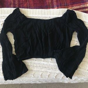 Pacsun Bell Sleeved Crop Top