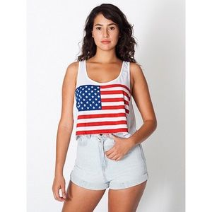 American Apparel Tops - ⚡️LAST CHANCE⚡️ American apparel flag crop tank