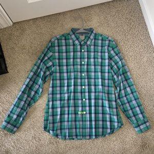J. Crew Other - JCrew Mens Tailored Fit Plaid Button Up Shirt Sz L