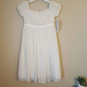 Us Angels Other - Us Angels Nordstrom ivory chiffon girl dress 8