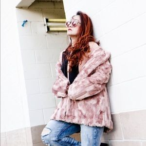 Blush Faux Fur Coat