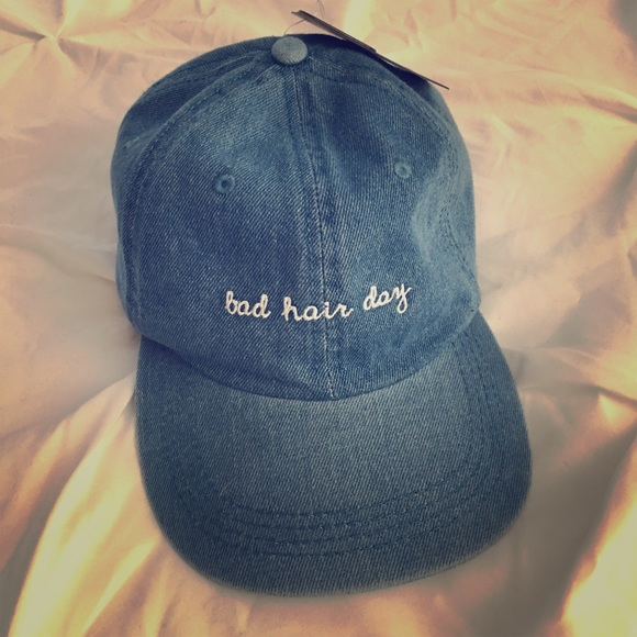 548d9156 david and young Accessories | Bad Hair Day Denim Dad Hat Cap | Poshmark