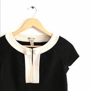 F21 Black & Cream Mod Shift Dress Sz M