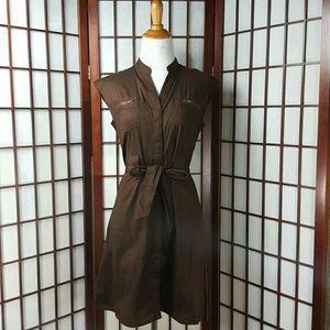 millenium  Dresses & Skirts - Brown MILLENIUM Button Down Dress Size PS