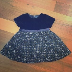 Andy & Evan Other - Velvet and tweed special occasion dress