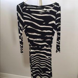 Ivanka trump black and white dress