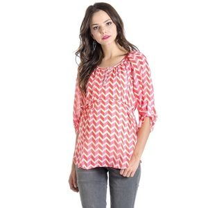 Lilac Clothing Tops - Lilac Emmy Coral Maternity Top