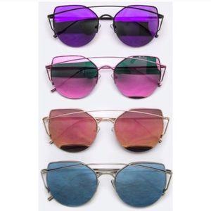 HP! Cateyed Mirrored Sunglasses