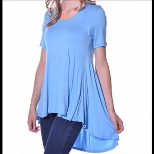 Pastels Clothing Tops - Pastels Flare Back Top