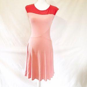 New York & Company Dresses & Skirts - FIRM🎈New York & Co Peach Pink Jersey Fitted Dress