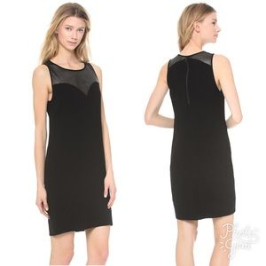 L'AGENCE Dresses & Skirts - L'AGENCE $95 NWT Sz 8 BLK Leather Sweetheart Dress