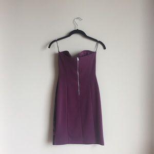 ASOS Dresses - ASOS // NWOT velvet deep V strapless floral dress