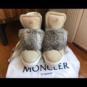 Moncler Shoes - Moncler Lucille Fur Shoe sneaker