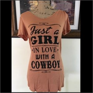 "Tops - ""Just A Girl In Love With A Cowboy"" Tee"