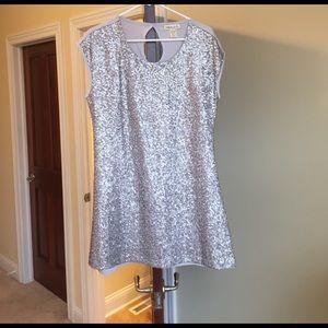 Belle Du Jour Dresses & Skirts - Silver sequin dress large belle du Jour