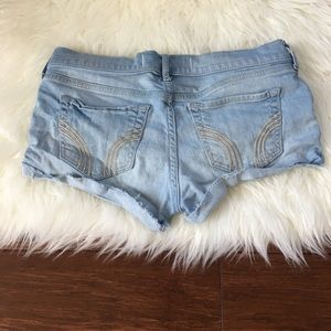 Hollister Pants - Hollister Light Blue Super Short Denim Shorts