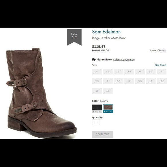 aa085d6b5258 Sam Edelman Ridge Leather Moto Boot. M 58bf3d0541b4e0b43b001cc7