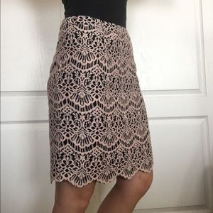 Nordstrom Rack Pink Lace Pencil Skirt