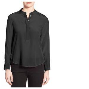 Amour Vert Tops - Amour Vert Tilda Black Silk Blouse S