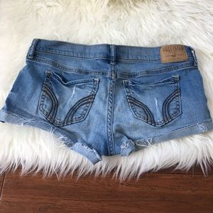 Hollister Pants - Hollister Bedazzled Blue Super Short Denim Shorts
