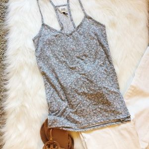 Blue/Grey Floral Tank Top