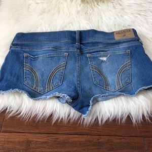 Hollister Pants - Hollister Super Short Blue Frayed Denim Shorts