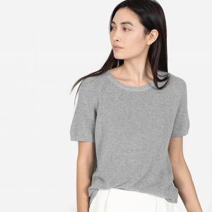 Everlane S Gray The Cotton Sweater Short Sleeve