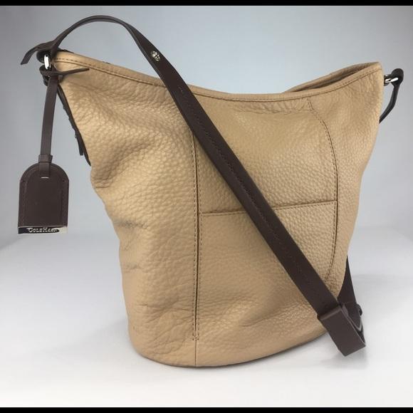Cole Haan Handbags - COLE HAAN large pebble leather bucket hobo! dc11ffcaa96ef