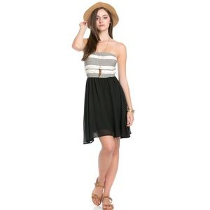 The Blossom Apparel Dresses & Skirts - Black Chiffon Tube Top Dress