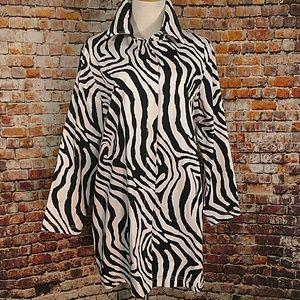 Diane Gilman Jackets & Blazers - NWOT Spring Zebra Jacket Plus 1X