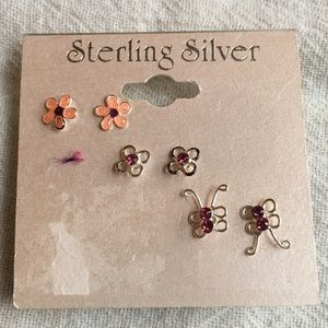 Jewelry - New Sterling Silver Tiny Earrings