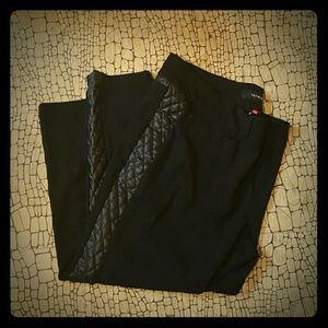 Torrid Black Legging w/Faux Leather Details